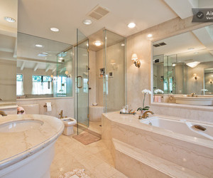 bathroom, mansion, and luxury house image