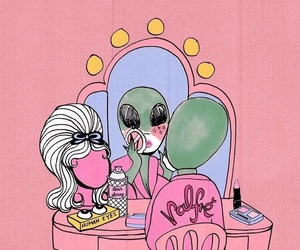 alien, tumblr, and pink image