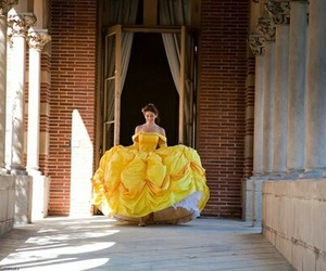 princess, belle, and disney image