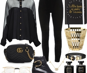 black, chanel, and great image