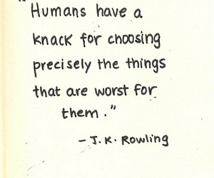 quotes, jk rowling, and humans image