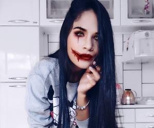 Halloween, make, and sangue image