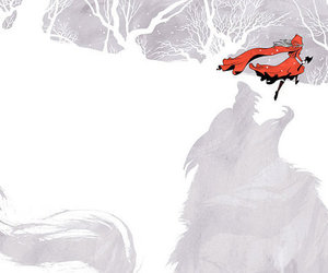 digital art, red, and red riding hood image