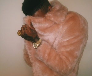 gold, pink, and fur image