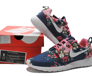 Nike Roshe Run Painted Midnight Navy Popping Pink White