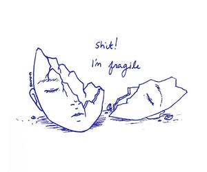 fragile, art, and quotes image