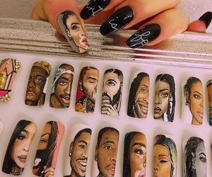 nails, Drake, and fashion image