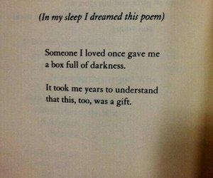 poem, Darkness, and sorrow image