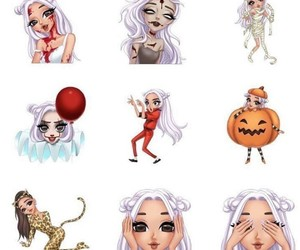 drawing, Halloween, and ariana grande image