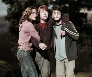 harry potter, friends, and hermione granger image