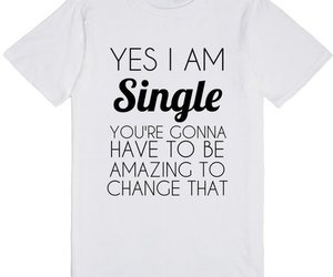 funny, humor, and single girl image