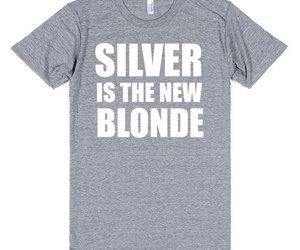 blonde, grey hair, and funny image