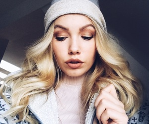 autumn, blonde, and curly hair image