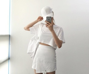 aesthetic, white, and outfit image