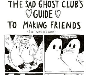 comic, ghost, and friends image