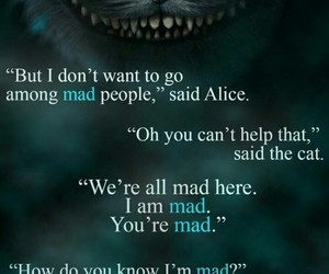 alice, quote, and cat image