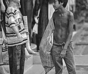 black, street, and human image