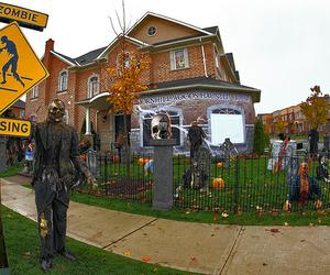 Halloween, fall, and house image