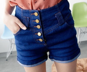 shorts, hipster, and high wasted shorts image