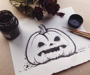 art, Halloween, and pumpkin image
