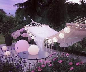 backyard, pink, and swing image