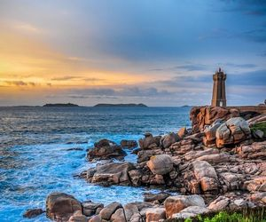 brittany, lighthouse, and sea image