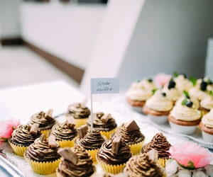 creme, cupcake, and dessert image