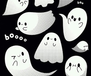 ghost, wallpaper, and Halloween image