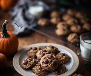 food, pumpkin, and chocolate image
