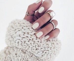nails, white, and fashion image