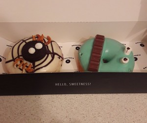 donuts, sweetness, and Halloween image