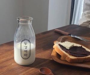 food, milk, and korean image