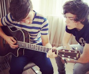 guitar, Harry Styles, and one direction image