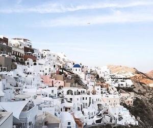 travel, Greece, and sky image