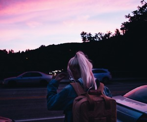 girl, pink, and grunge image