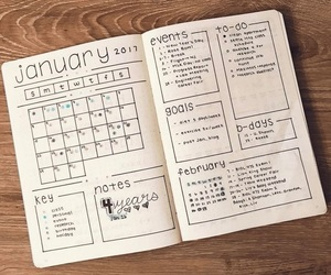 bullet journal, planner, and bujo image