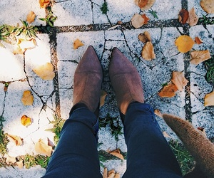 autumn, boots, and cozy image