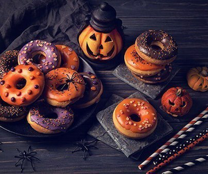 Halloween, donuts, and food image