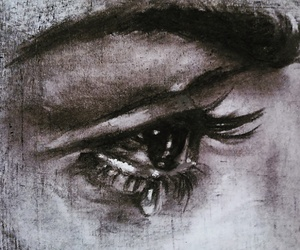 art, charcoal, and draw image