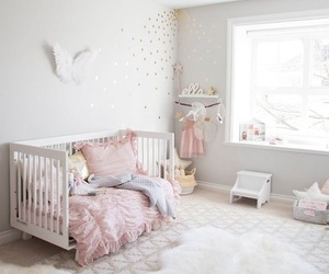 adorable, kids room, and pink room image