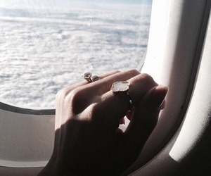 travel, airplane, and jewelry image