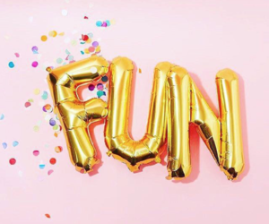 fun, pink, and balloons image