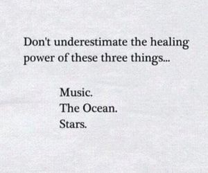 music, heal, and ocean image