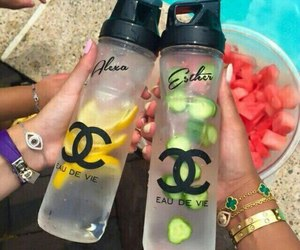 chanel, drink, and fruit image