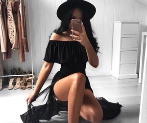 black, dress, and clothes image