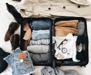 travel, suitcase, and packing image