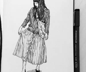 art, clothes, and drawing image
