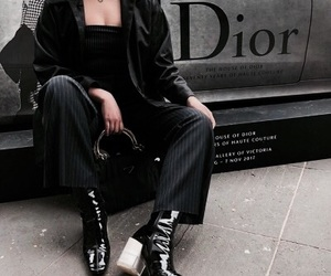 fashion, black, and dior image