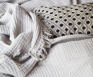 bed, fabric, and simple image