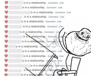 forever alone, Relationship, and facebook image